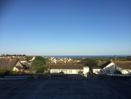 Mounts Bay Guest House : View over town to sea from our room