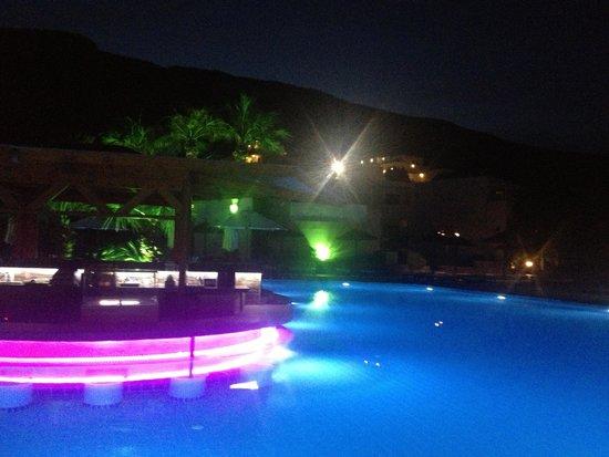 Lindos Gardens Resort Complex: Lindos Garden Pool by Night