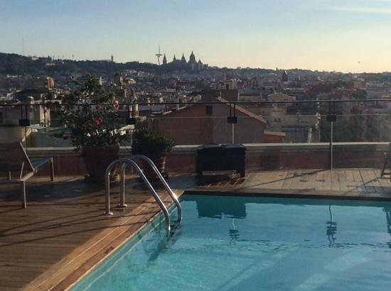 Hotel 1898: great views from the roof terrace