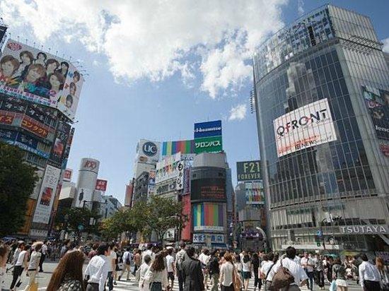 Shibuya Tobu Hotel: Pedestrian scramble
