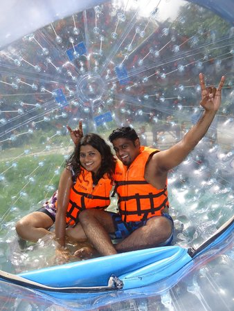 Rollerball Zorbing Phuket: In side the Zorb