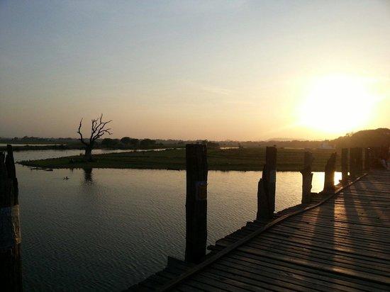 Pont d'U Bein : Beautiful sunset