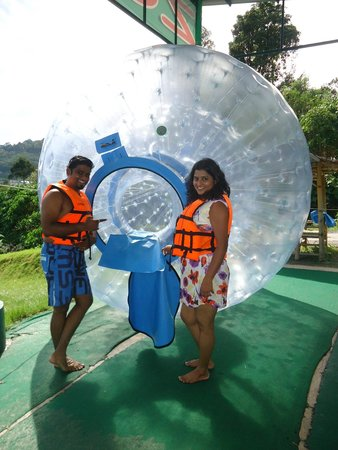 Rollerball Zorbing Phuket: before we enter the zorb