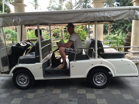 The Payogan Villa Resort & Spa: Transfer to your room by golfcar