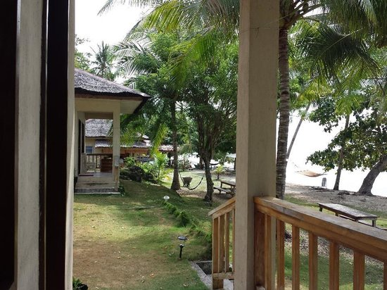 Flora's Dive and Resort : view from balcony 2