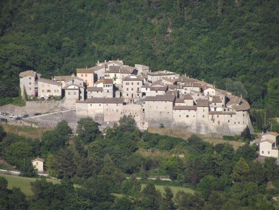 B&B La Terrazza del Castello: Panorama di Castel San Felice di Sant'Anatolia di Narco