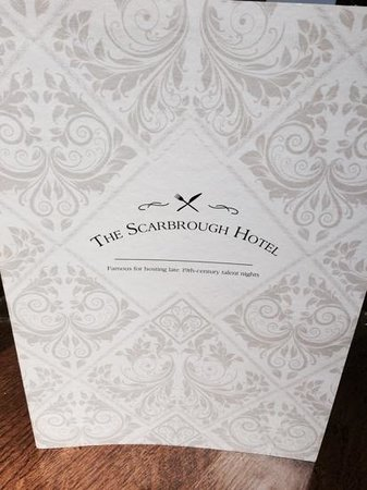 The Scarbrough Hotel: The Menu