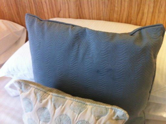 Fistral Beach Hotel and Spa: Stained pillows