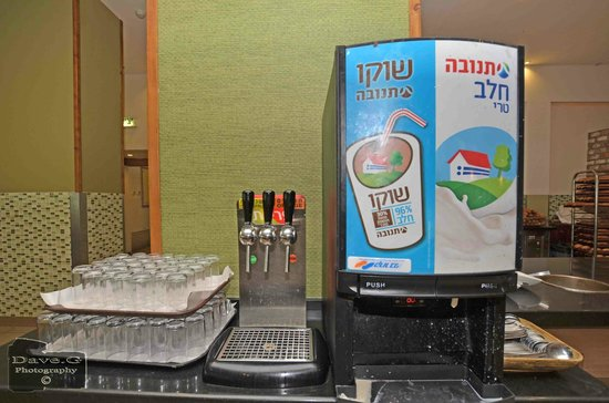 Dan Panorama Eilat : Breakfast juice and milk drinks