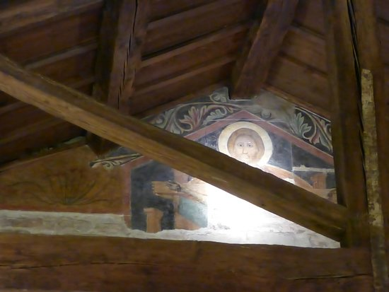 Santa Felicita: Another one of the original frescoes inside the restaurant (upstairs)