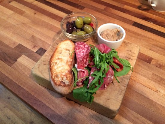 At Tristans: Meat platter starter