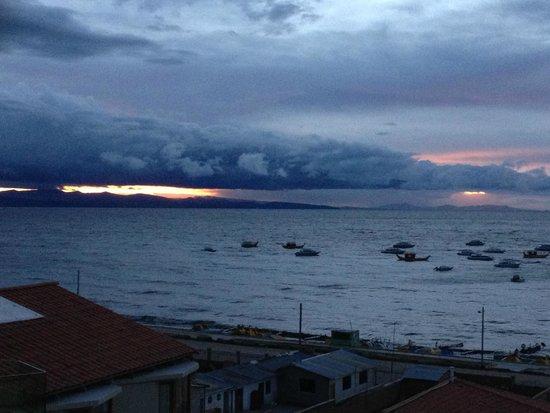 Hotel Rosario Lago Titicaca : Sunset