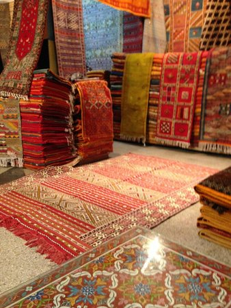 Medina of Rabat : Part of the selection they have (about 1/2) in the back of the shop.