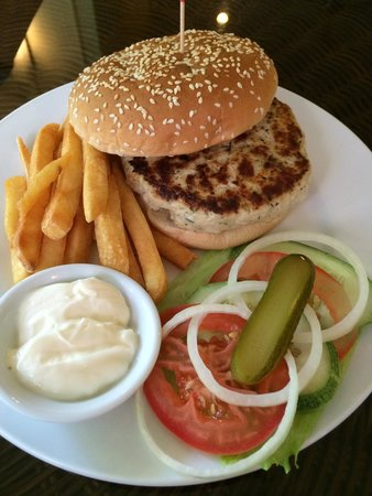 Crocodile Rock Pizza & Grill Restaurant : Home made burger