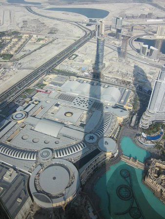 At.Mosphere Restaurant: Afternoon shadow of the Burj Khalifa