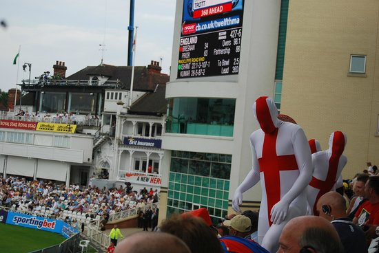 Trent Bridge Cricket Ground: The English Morph Suiters return to their seats