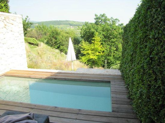 Pianaura Suites-la Torre Tra Le Vigne: The plunge pool and view