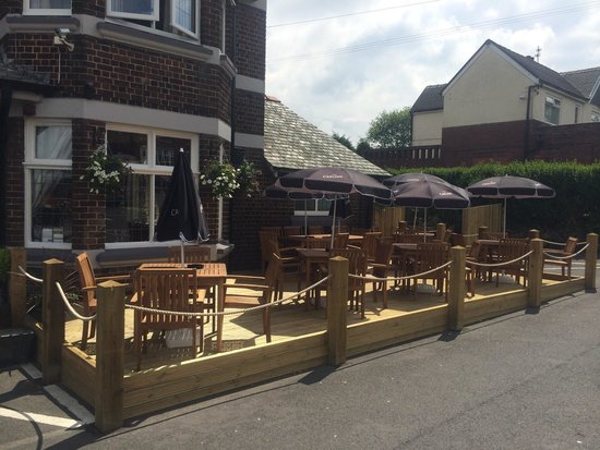 The Saracen's Head Steakhouse: New outside seating area It looks fab