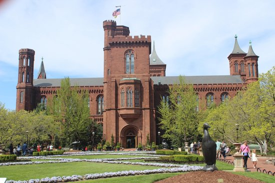Smithsonian Institution Buidling: Smithsonian Institution Building, rear view, April 2014