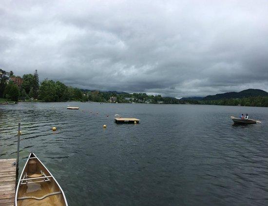 Golden Arrow Lakeside Resort : View from dock