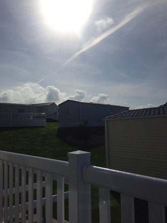 Praa Sands Holiday Park: Morning sun from decking