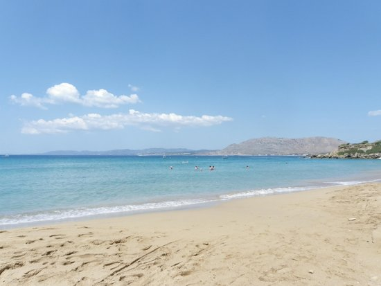 Pefkos Beach: View from Lee Beach