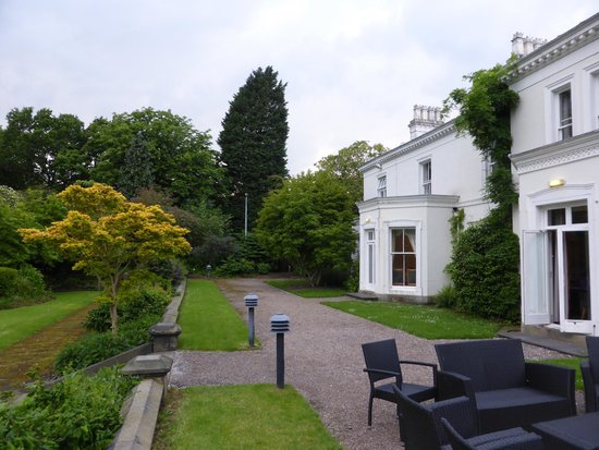 Chancellors Hotel: Terrace, and the old house