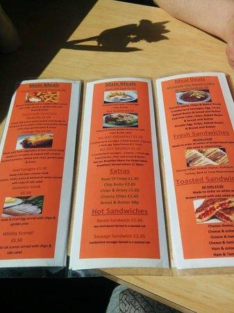Sandown Restaurant & Cafe': menu
