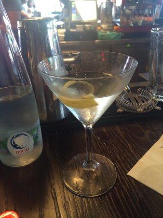 Kepasa: Vodka martini. Excellent here (David is the martini local guru)
