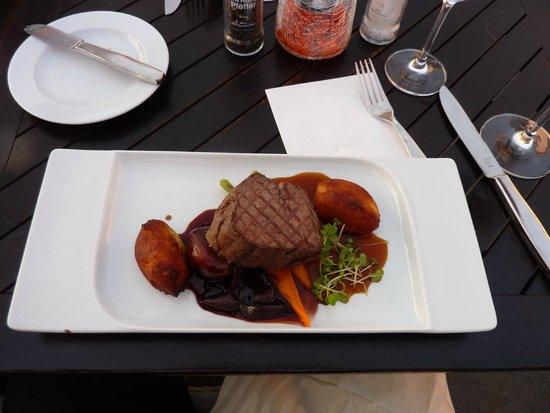 Rheinterrassen: piatto di carne