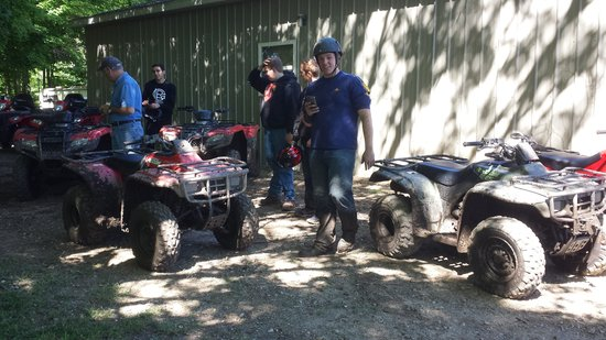KJC ATV Rentals and Trails of South Haven: After we were done smiles everywhere