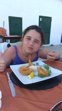 Big Reds Steakhouse : Tempura prawn starter