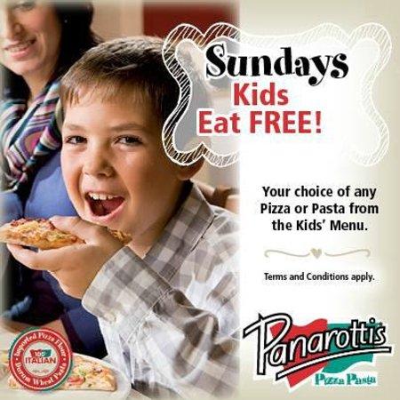 Panarottis Paarl: Kids eat free on Sundays. Every Sunday!