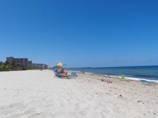 Ebb Tide Oceanfront Resort in Pompano Beach, Florida: Nice peaceful beach