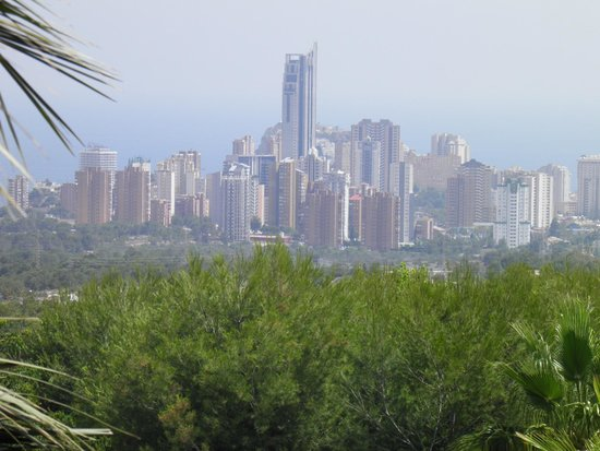 Asia Gardens Hotel & Thai Spa, a Royal Hideaway Hotel: Benidorm from the Apartment