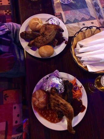 Rancho Texas Lanzarote Park: Looks messy but best meal all week