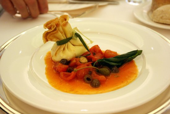 Grand Visconti Palace : Crepe with seafood and vegetable