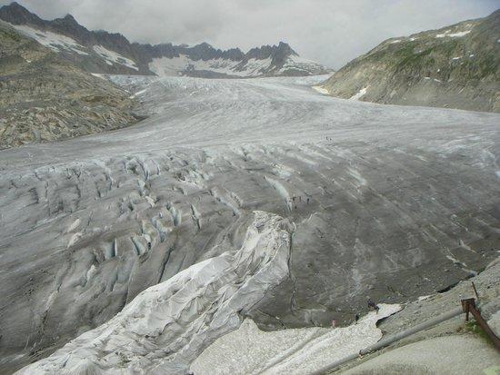Rhone glacier: вид сверху