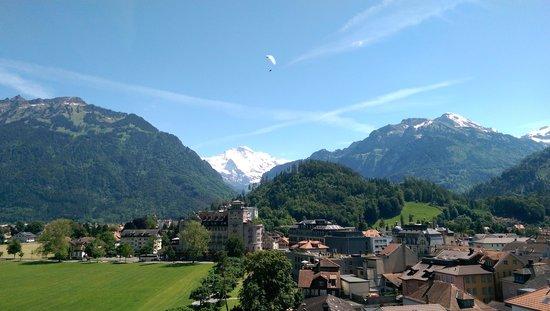 Metropole Hotel Interlaken: view from balcony
