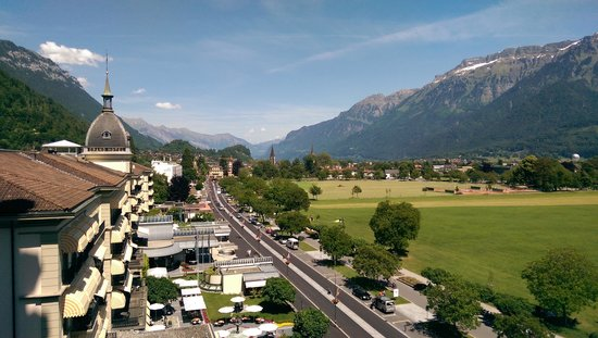 Metropole Hotel Interlaken : view from balcony