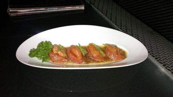 Bushido Restaurant: Salmon and grapefruit