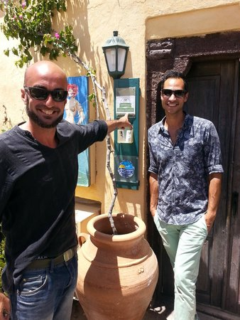 Zoe-Aegeas Traditional Houses : Zak and John sharing recent award - so deserving!