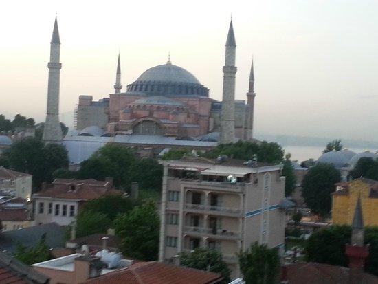 Adamar Hotel : Aussicht Terrasse