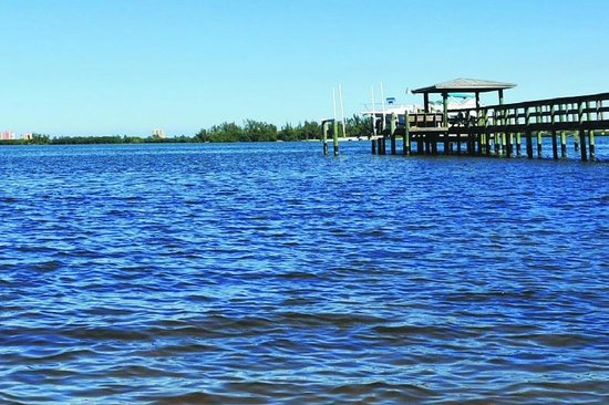 Indian River Lagoon Waterfront Cottages: View and Dock