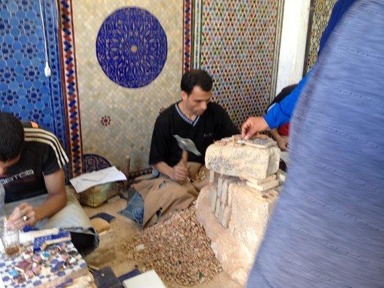 Fes el-Bali : mozaik atölyesi