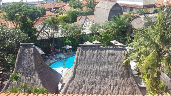Ramayana Resort & Spa: The gorgeous view of the pool area from our top floor room