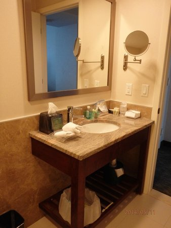 Holiday Inn L.I. City - Manhattan View : Bright bathroom