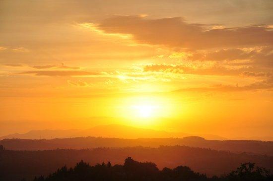 Villa I Barronci : Sunset
