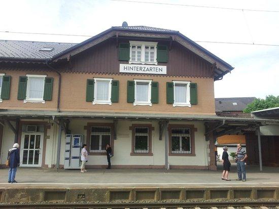 Hotel Schwarzwaldhof: hotel just behind the train station building