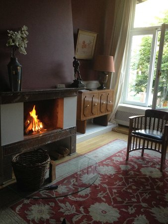 Prince Henry, Private Suites and Gardens : The fireplace provided a nice ambiance